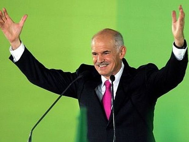 To George Papandreou.